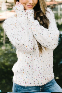 Funfetti Party Sweater (Ivory)