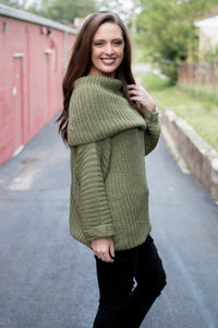 Hold Me Dear Sweater (Olive)