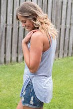 Load image into Gallery viewer, Basic Beauty Racerback Tank (Blue)