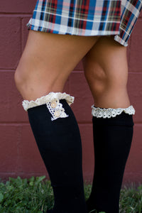 Show and Tell Boot Socks (Black)