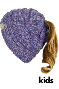 C. C Kids Messy Bun Beanie (Additional Colors)