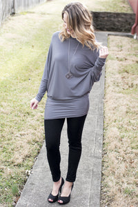Easily Loved Tunic (Ash Grey)