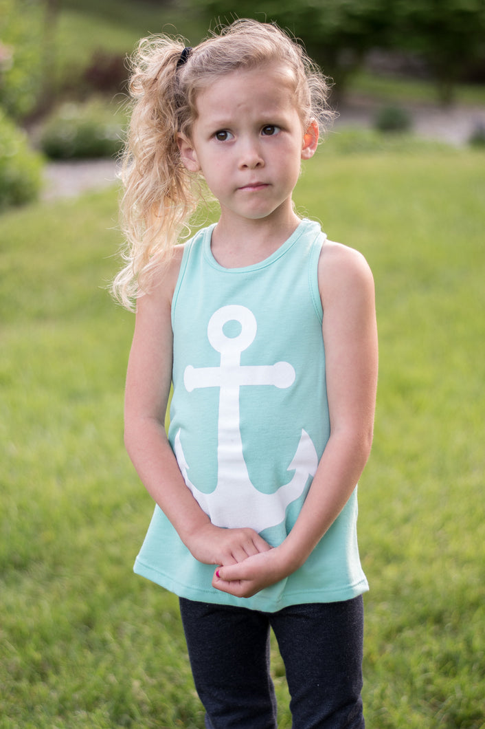 Anchor Me Down Mommy & Me Tank (Mint)