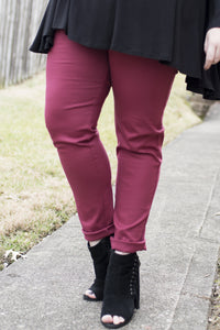 So Good to Me Pants (Burgundy)