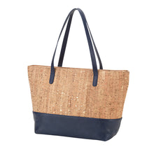 Load image into Gallery viewer, Driftwood Purse (Navy & Cork)