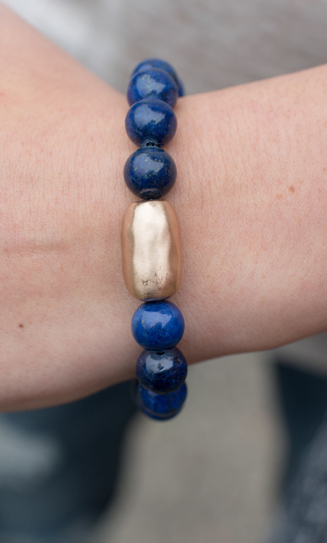 I'll Be Around Bracelet (Navy)