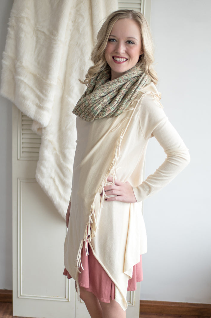 Elegant Ease Cardigan (Cream)
