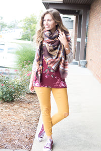 Go for the Gold Blanket Scarf