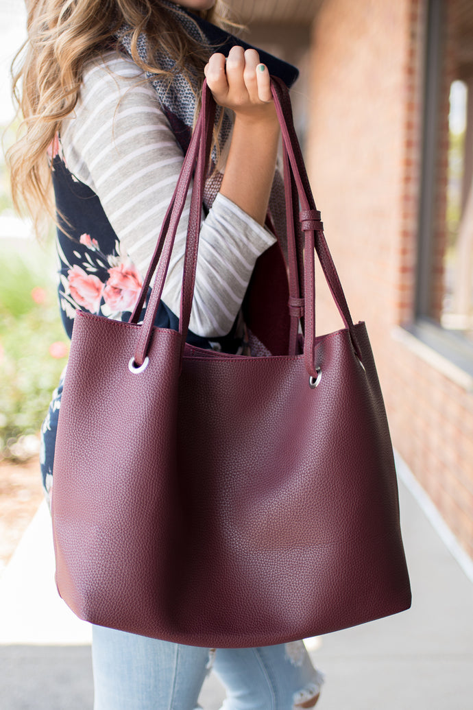 Take It All Handbag (Maroon)