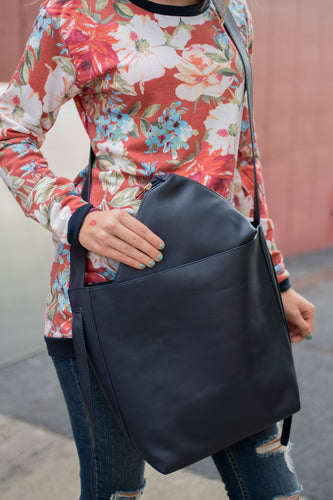 Fall Feels Handbag (Navy)