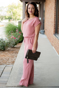 Take a Stroll Jumpsuit (Mauve)