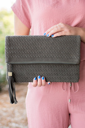 Hold My Gaze Clutch (Olive)