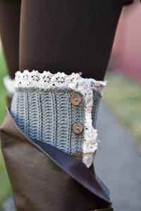 Short Stuff Boot Cuffs (Grey)