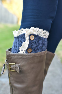 Short Stuff Boot Cuffs (Blue)