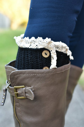Short Stuff Boot Cuffs (Black)