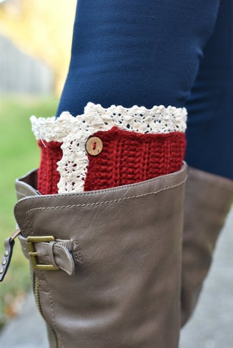 Short Stuff Boot Cuffs (Red)