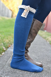 Show and Tell Boot Sock (Blue)