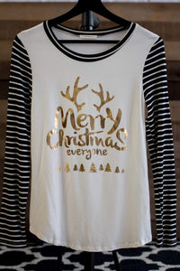 """Merry Christmas"" Tee (Black)"
