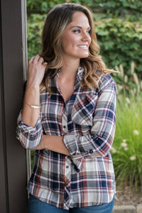 Something About You Plaid Top