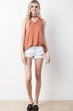 Load image into Gallery viewer, Summer Vibes Tank (Terra Cotta)