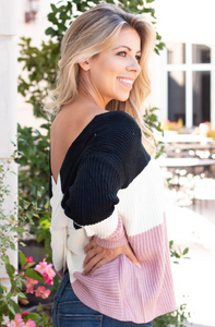 Twists and Turns Sweater (Black Multi)
