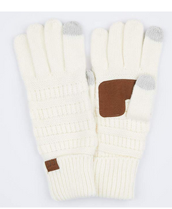 C. C Fleece Lined Touch Screen Gloves (Additional Colors)