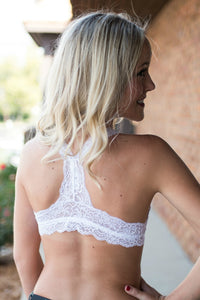 So In Love Racerback Bralette (White)