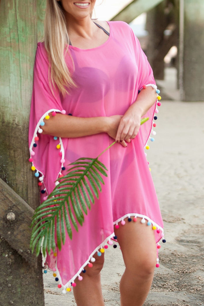 Pom's Away Swimsuit Cover Up (Pink)