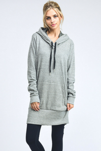 Stretch Out Hoodie Dress (Grey)