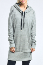 Load image into Gallery viewer, Stretch Out Hoodie Dress (Grey)