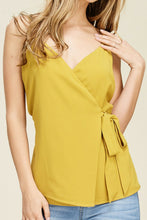 Load image into Gallery viewer, Take a Bow Wrap Top (Golden Yellow)