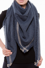 Load image into Gallery viewer, No Hesitations Blanket Scarf (Blue)