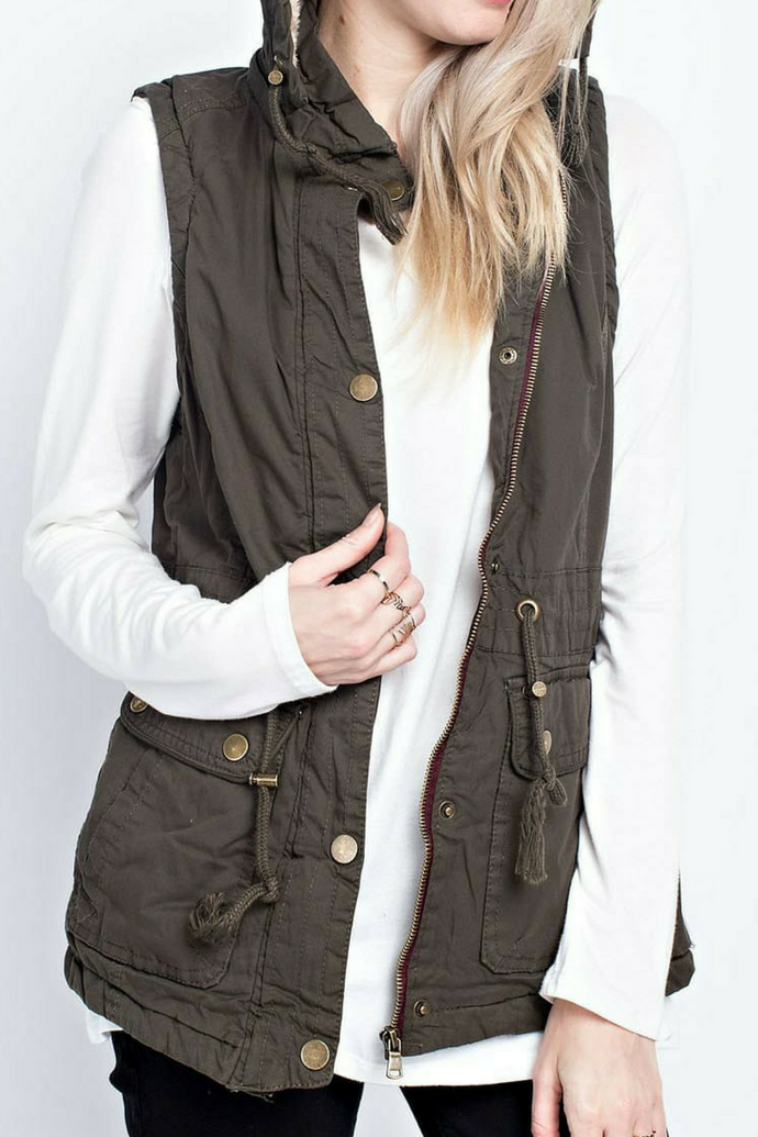 A Casual In-Vestment (Faux Fur Lined Vest)