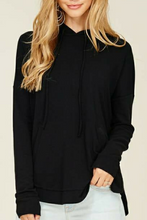 Load image into Gallery viewer, Soft Whispers Pullover Top (Black)