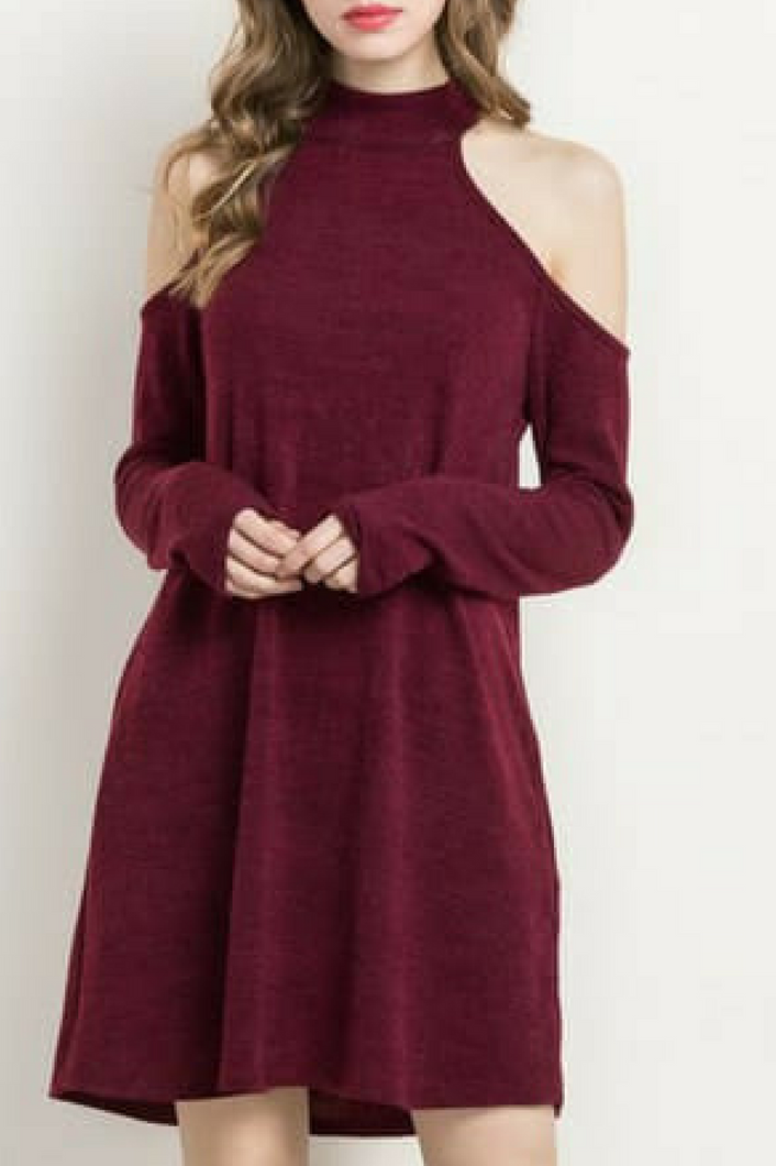 Lovely Lady Dress (Wine)