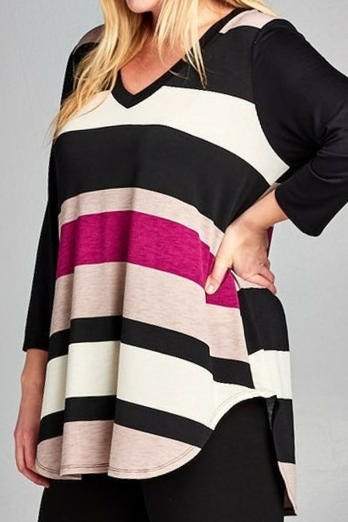 Magenta Meetup Tunic Top