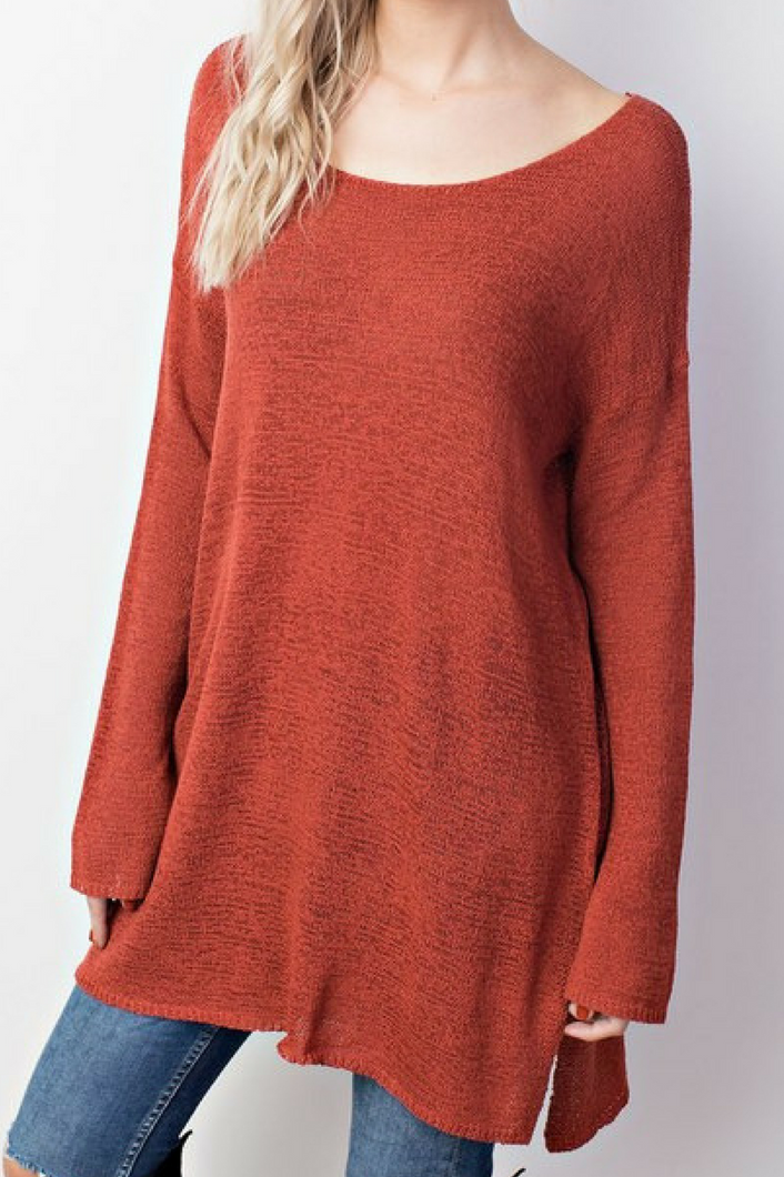 Saved By the Bell Top (Burnt Orange)
