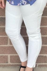 That's My Moto Jeggings (White)