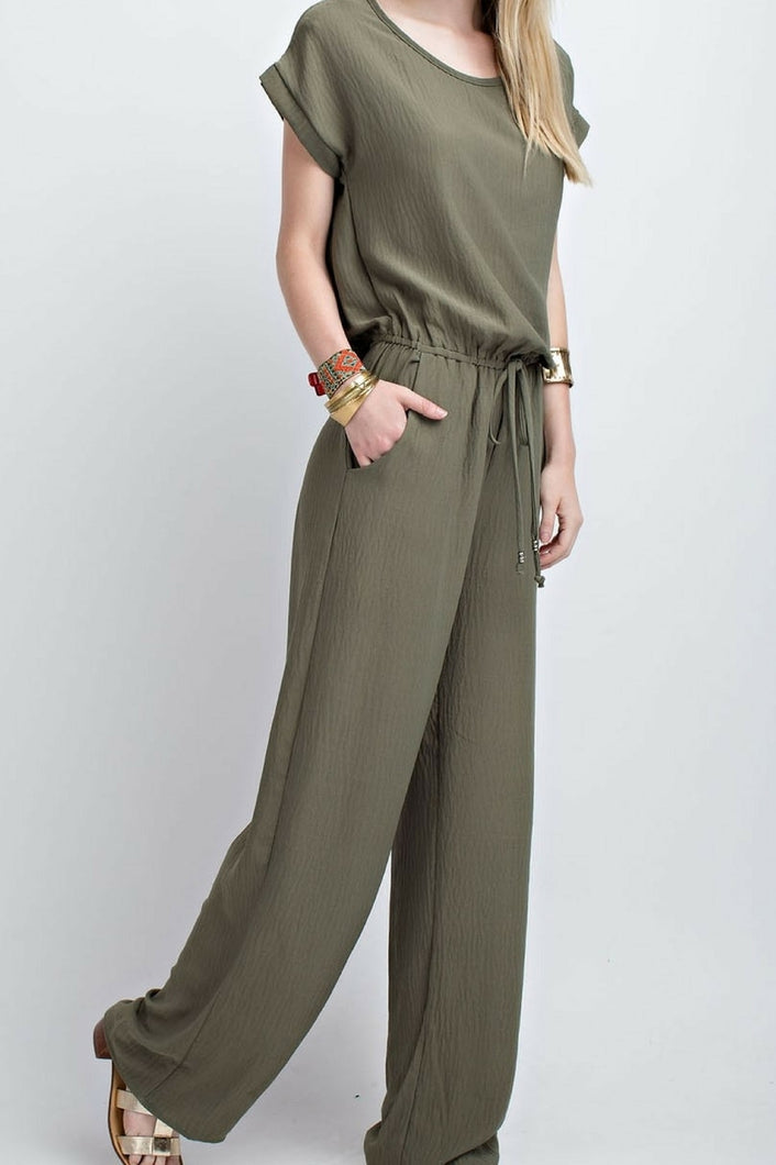 Take a Stroll Jumpsuit (Olive)