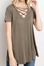 Load image into Gallery viewer, All Tied Up Tee (Olive)