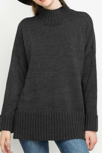 Up in Smoke High Neck Sweater