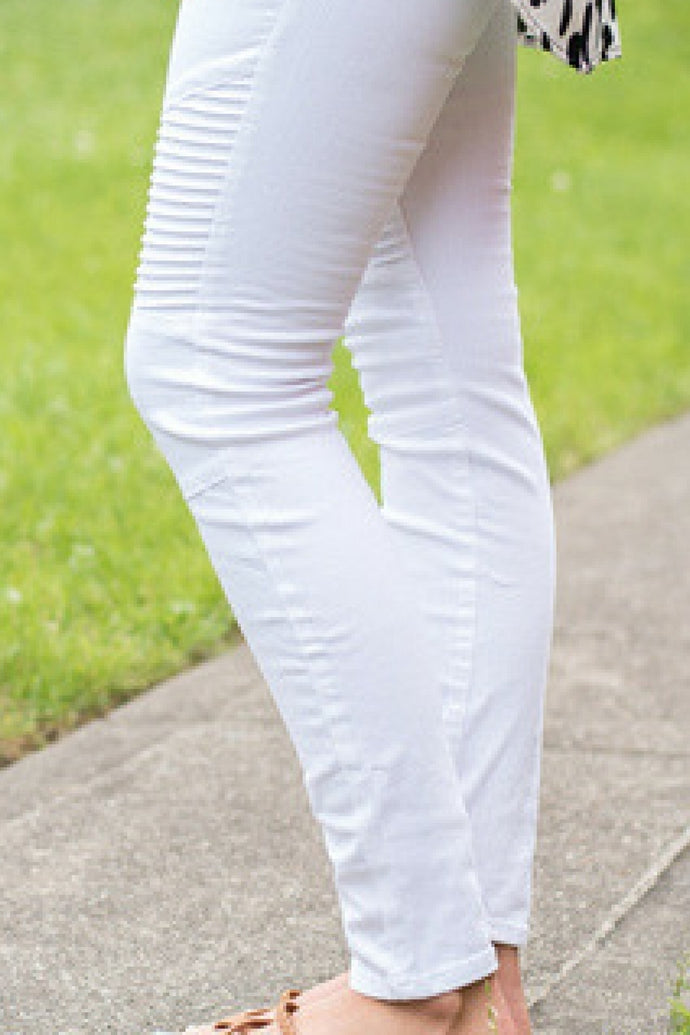 On the Open Road Moto Pants (White)