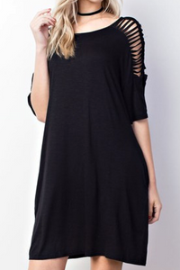 Captivate Me Dress (Black)