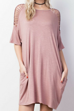 Load image into Gallery viewer, Captivate Me Dress (Mauve)