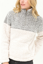 Load image into Gallery viewer, Wind Down Sherpa Pull Over (Grey)