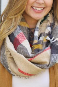 Merry Go Round Infinity Scarf (Tan)