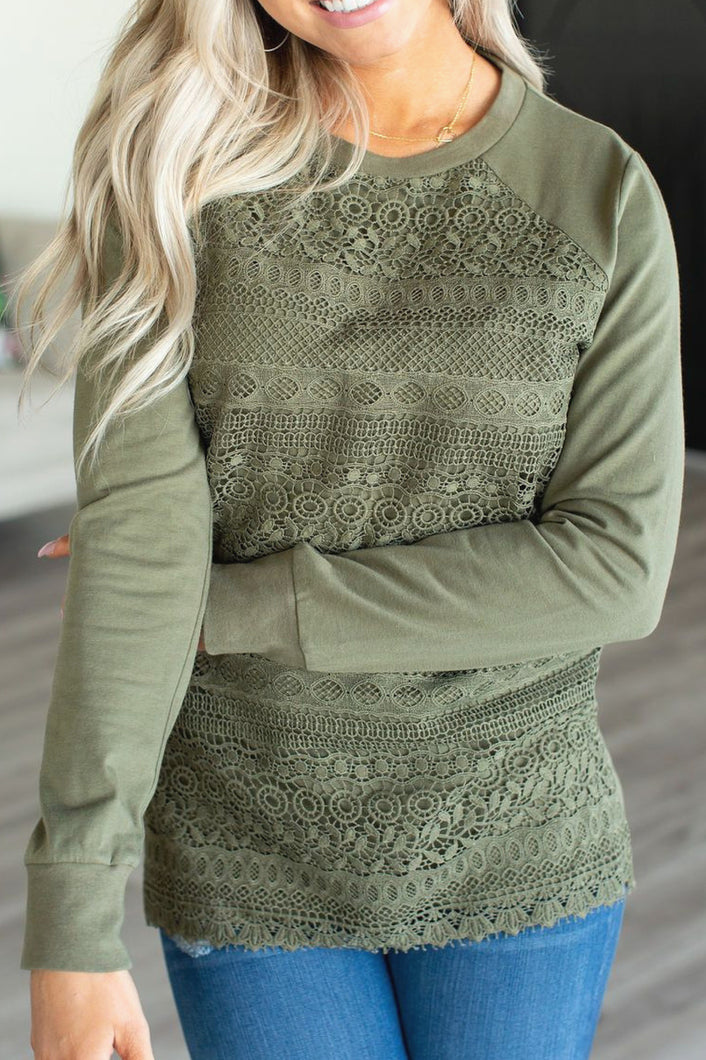 Ampersand Ave™ First Lace (Olive)
