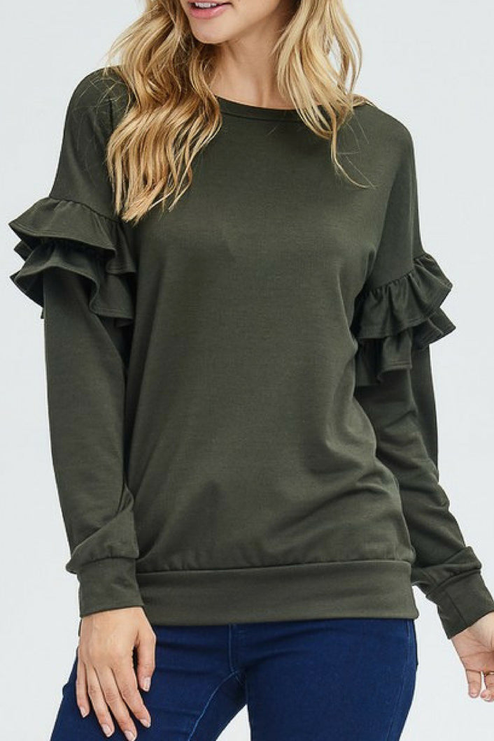 Can't Stop Her Top (Olive)