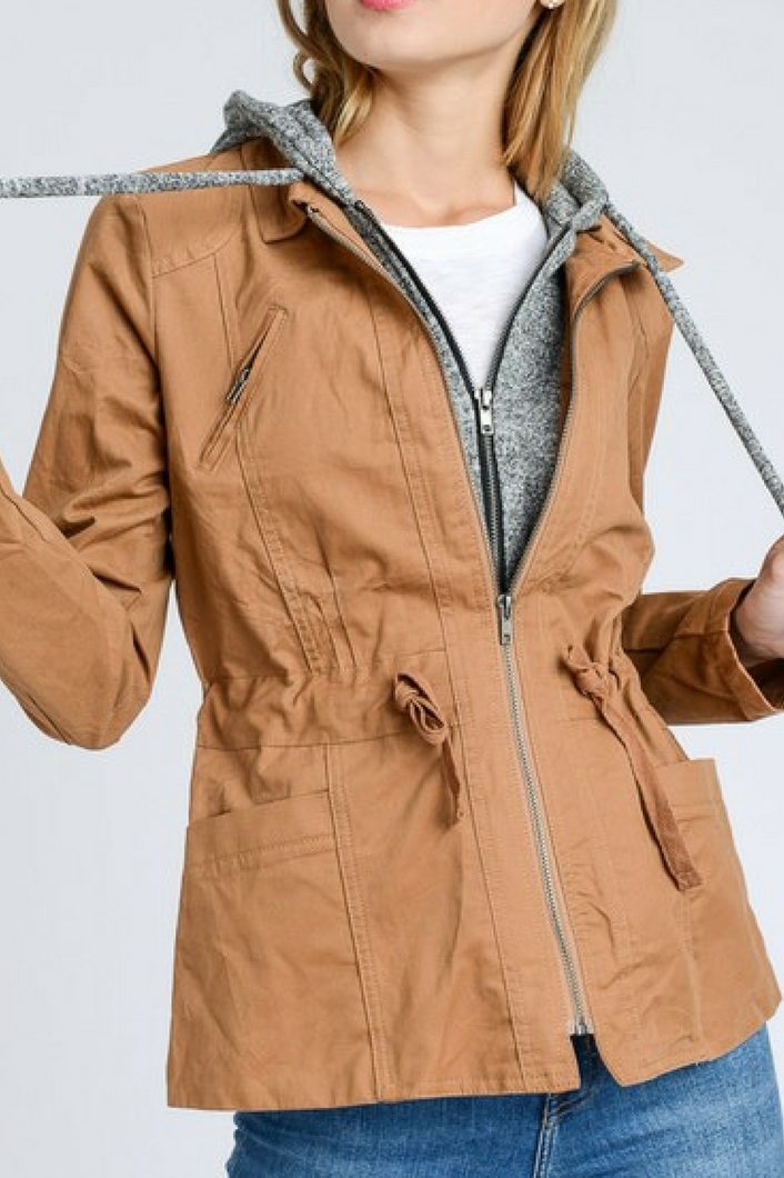 Ready for Anything Utility Jacket (Camel)