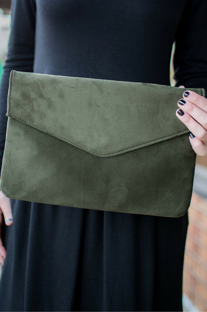 Evening Air Clutch (Olive)